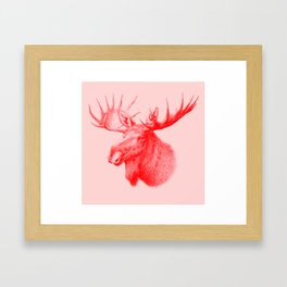 Moose red Framed Art Print
