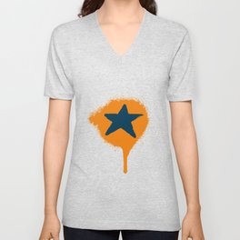 Lazy Stars (Tangerine/Blueberry) Unisex V-Neck