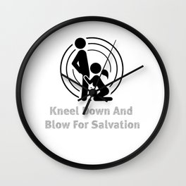 bubbles redemption blowjob sexy priest gift Wall Clock