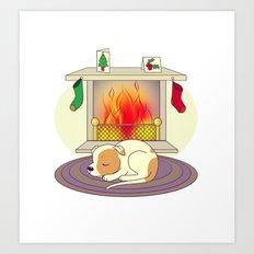 Cosy Christmas Art Print