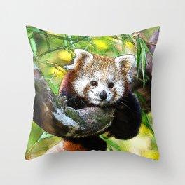 CArt red Panda Baby Throw Pillow