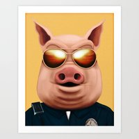 pigs Art Prints featuring PIGS by Brandon Juarez