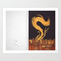 Some Great Fire At Earth's End. Art Print
