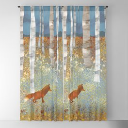 Autumn Fox Blackout Curtain