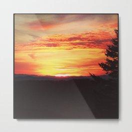 Moran Sunset Metal Print