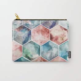 Earth and Sky Hexagon Watercolor Carry-All Pouch