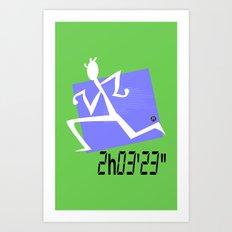 Marathon record time Art Print