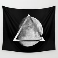 swag Wall Tapestries featuring LUNAR SWAG  by Maioriz Home