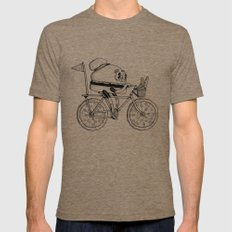 Pizzabike Burger Mens Fitted Tee SMALL Tri-Coffee