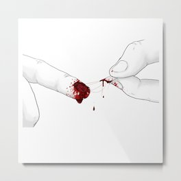 The bloody nail Metal Print