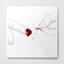The bloody nail Metal Print
