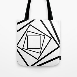 Hypnotic Black And White Tote Bag