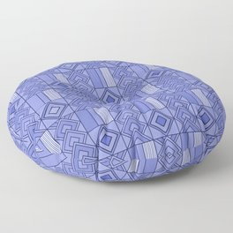 Purple African Ankara Print Floor Pillow