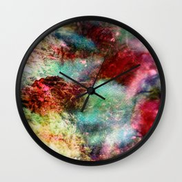 Passionate Flowers Wall Clock