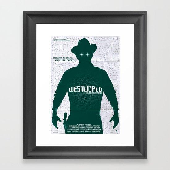 WESTWORLD Framed Art Print