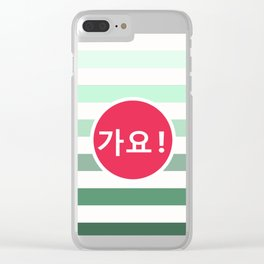 Striped tunes Clear iPhone Case