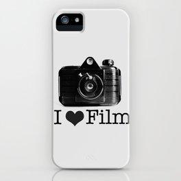 I ♥ Film (Grey/Black) iPhone Case