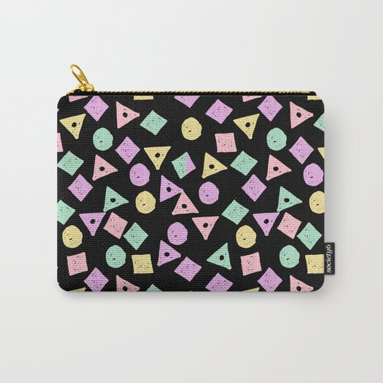 Mikkel - pastel shapes minimal abstract pattern design charlotte winter prints Carry-All Pouch