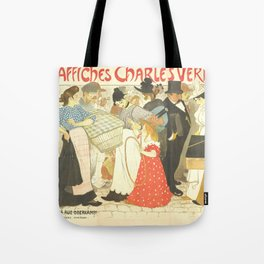 """Théophile Steinlen """"The Street (La rue), poster for the printer Charles Verneau"""" Tote Bag"""
