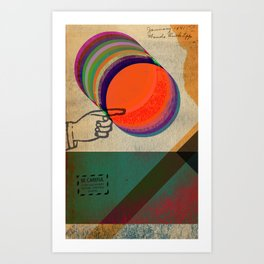 do NOT push the big red button Art Print