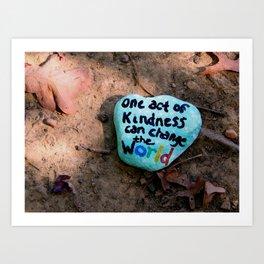 Kindness rock Burke Lake Art Print