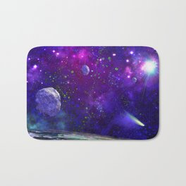 View From a Distant Moon Bath Mat