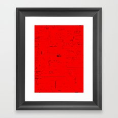 Typographic noise Framed Art Print