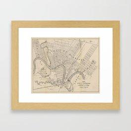 Vintage Map of Winnipeg Canada (1882) Framed Art Print