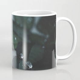 Botanical Still Life Raindrops on leaves Coffee Mug