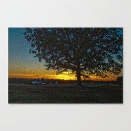Columbia Va. Sunset in Oil Canvas Print