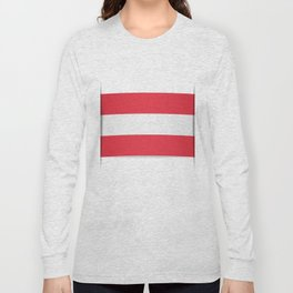Flag of Austria. The slit in the paper with shadows.  Long Sleeve T-shirt