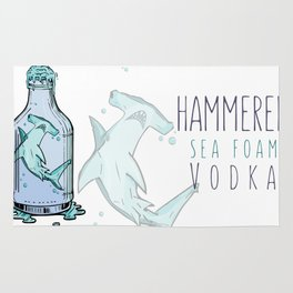 Hammered Sea Foam Vodka Rug