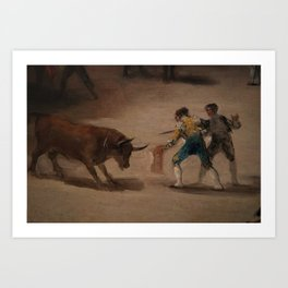 Bullfight in a Divided Ring Art Print