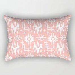 Mid Century Modern Atomic Space Age Pattern Peach Rectangular Pillow
