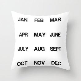 Calendar Throw Pillow