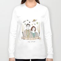 scully Long Sleeve T-shirts featuring Mulder and Scully 4Ever by Mali Fischer