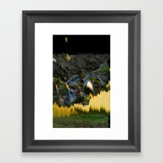 Yellow Electric Landscape Framed Art Print
