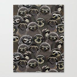Social Sloths Canvas Print