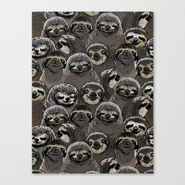 Social Sloths Canvas Print