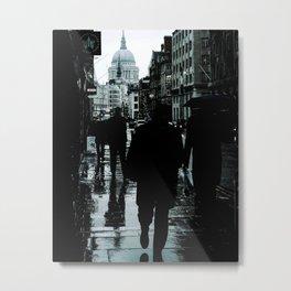 rainy day in London Metal Print