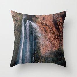 Red Rock Falls Throw Pillow