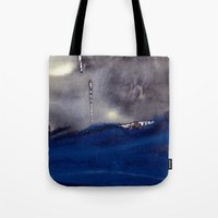 storm Tote Bags featuring storm by agnes Trachet