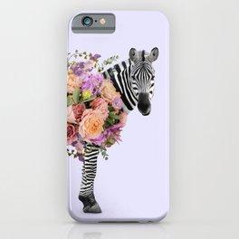 FLORAL ZEBRA iPhone Case