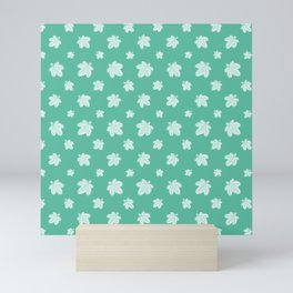 Palmate Leaves Pattern Mini Art Print
