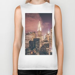 New York City - Chrysler Building Lights Biker Tank