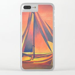 Sienna Sails at Sunset Clear iPhone Case