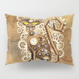 Steampunk Cat Vintage Style Pillow Sham