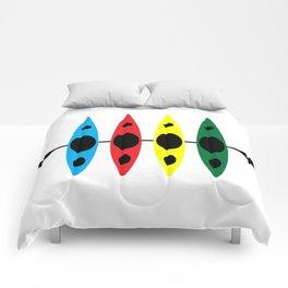 Four Kayaks | DopeyArt Comforters