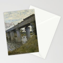 The Railroad bridge in Argenteuil Stationery Cards
