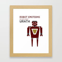 Wrath Robot Emotions Framed Art Print
